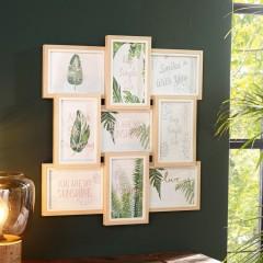 """Фоторамка """"Натур"""" дерево, на 9 фото"""