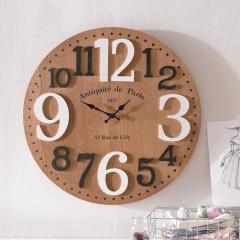 """Часы настенные """"Рустик"""" дерево, Д 58 см"""