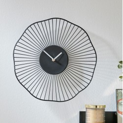 "Часы ""Цветок"" настенные, металл, диаметр 35 см"
