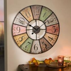 """Часы """"Цвета"""" настенные, дерево, диаметр 50 см"""