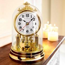 """Часы настольные """"Ностальгия"""" пластик, диаметр 12 см, высота 17 см"""