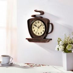 """Часы """"Кофе"""" настенные, пластик, 32х5х28 см"""