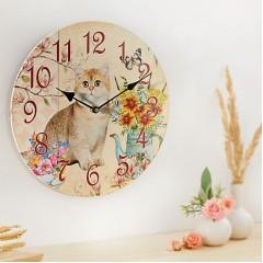 """Часы """"Кошечка Минка"""" настенные, диаметр 33 см"""
