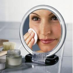"""Зеркало """"Косметик"""" увеличительное, Д 15,5 см"""