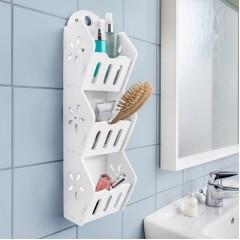 """Полочка для ванной """"Дом"""", пластик, 12х10х45 см"""